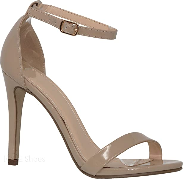 bccad86b54f5 MVE Shoes Women s Trendy Single Ankle Strap - Classy Sleek Simple Heel