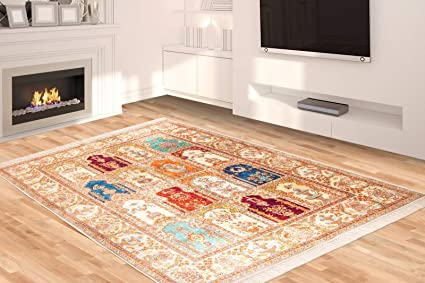 Amazon Com Silk Touch Turkish Area Rug 3x5 Feet 2 8 By 4 6