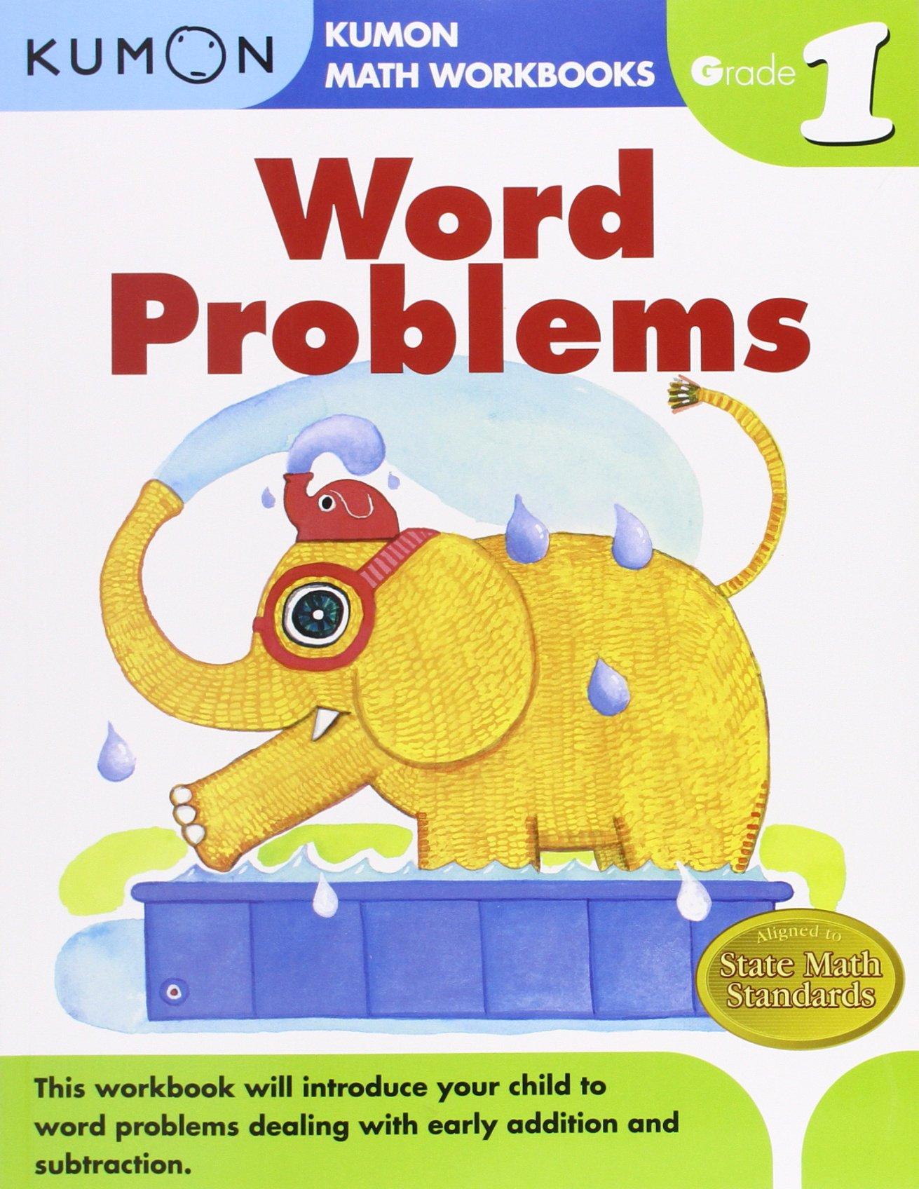 Worksheets Kumon Worksheets For Sale word problems grade 1 kumon math workbooks publishing 9781934968413 amazon com books