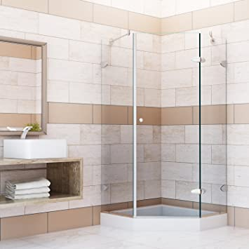 Charming Frameless Neo Angle Shower Enclosure With .