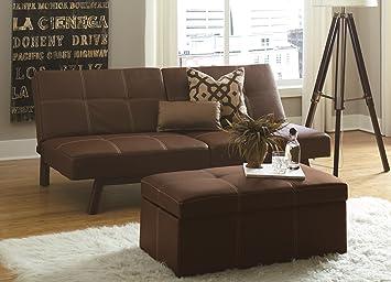Wondrous Dhp Delaney Splitback Futon Compact Modern Design Brown Inzonedesignstudio Interior Chair Design Inzonedesignstudiocom