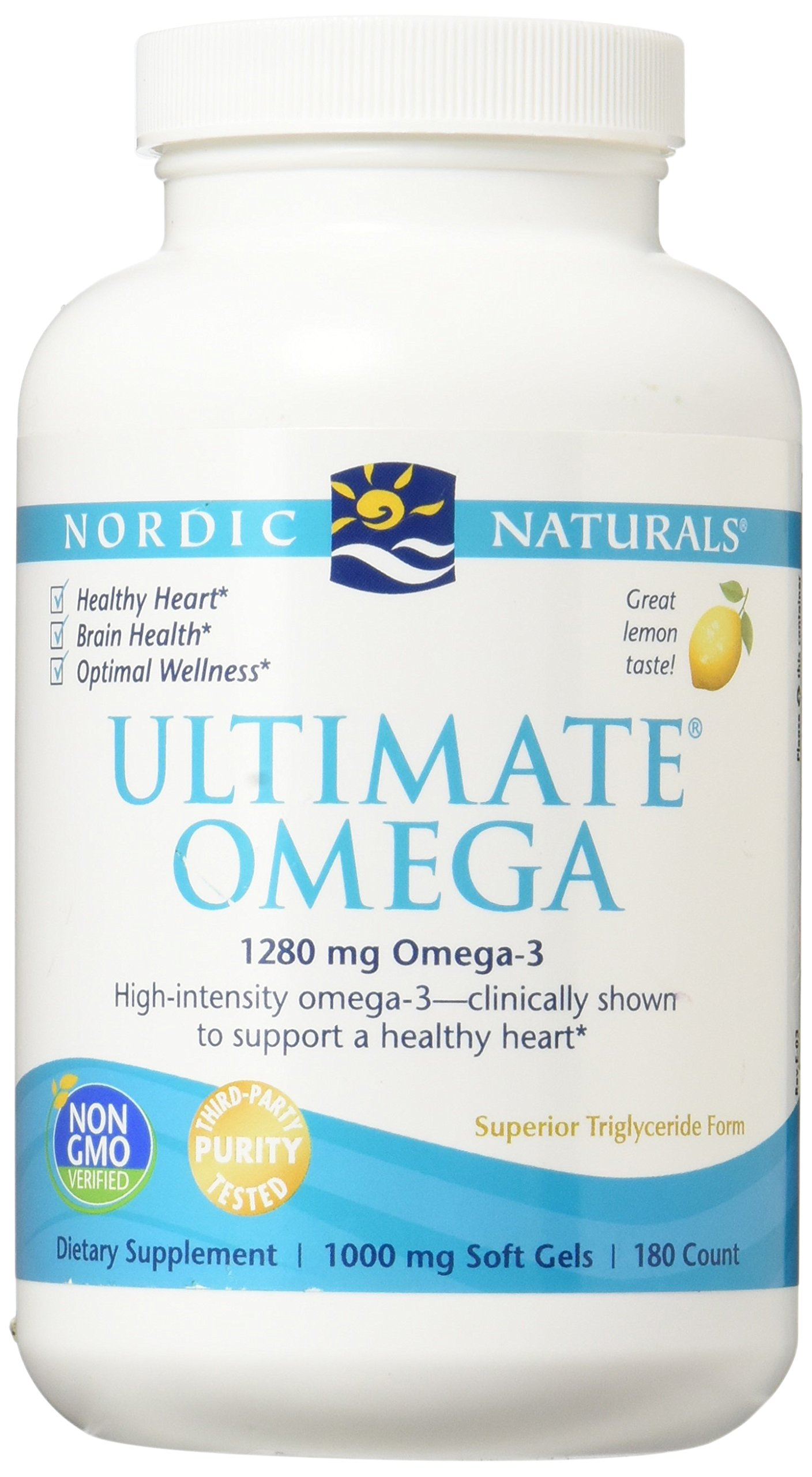 Nordic Naturals - Ultimate Omega, Support for a Healthy Heart, 180 Soft Gels (FFP)