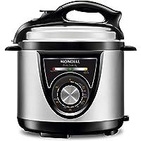 Panela de Pressao Eletrica Pratic Cook 5L Premium 220V, Mondial PE-34, Preto/Inox, Mondial