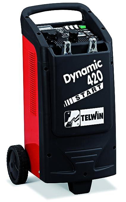 Telwin TE-829382 Cargador - Arrancador, 1600 W, 230 V, Rojo y negro
