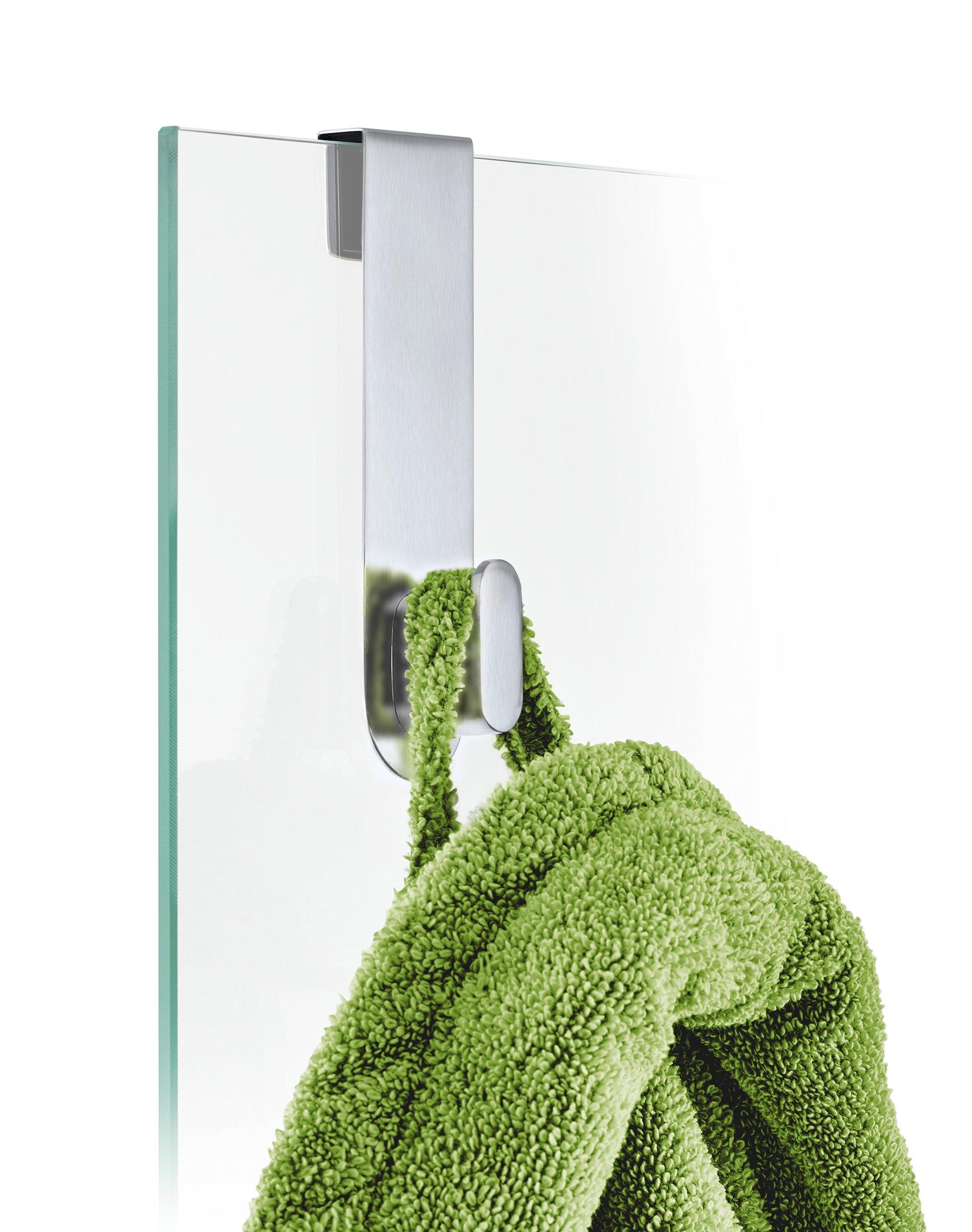 Blomus 68905 Areo Glass Door Shower Hook, Brushed by Blomus (Image #3)