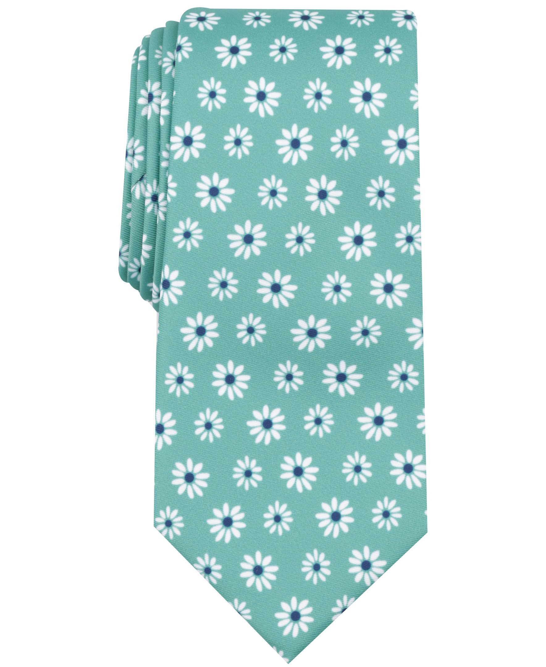 Nautica Men's Printed Conversational Tie, Light Green, One Size