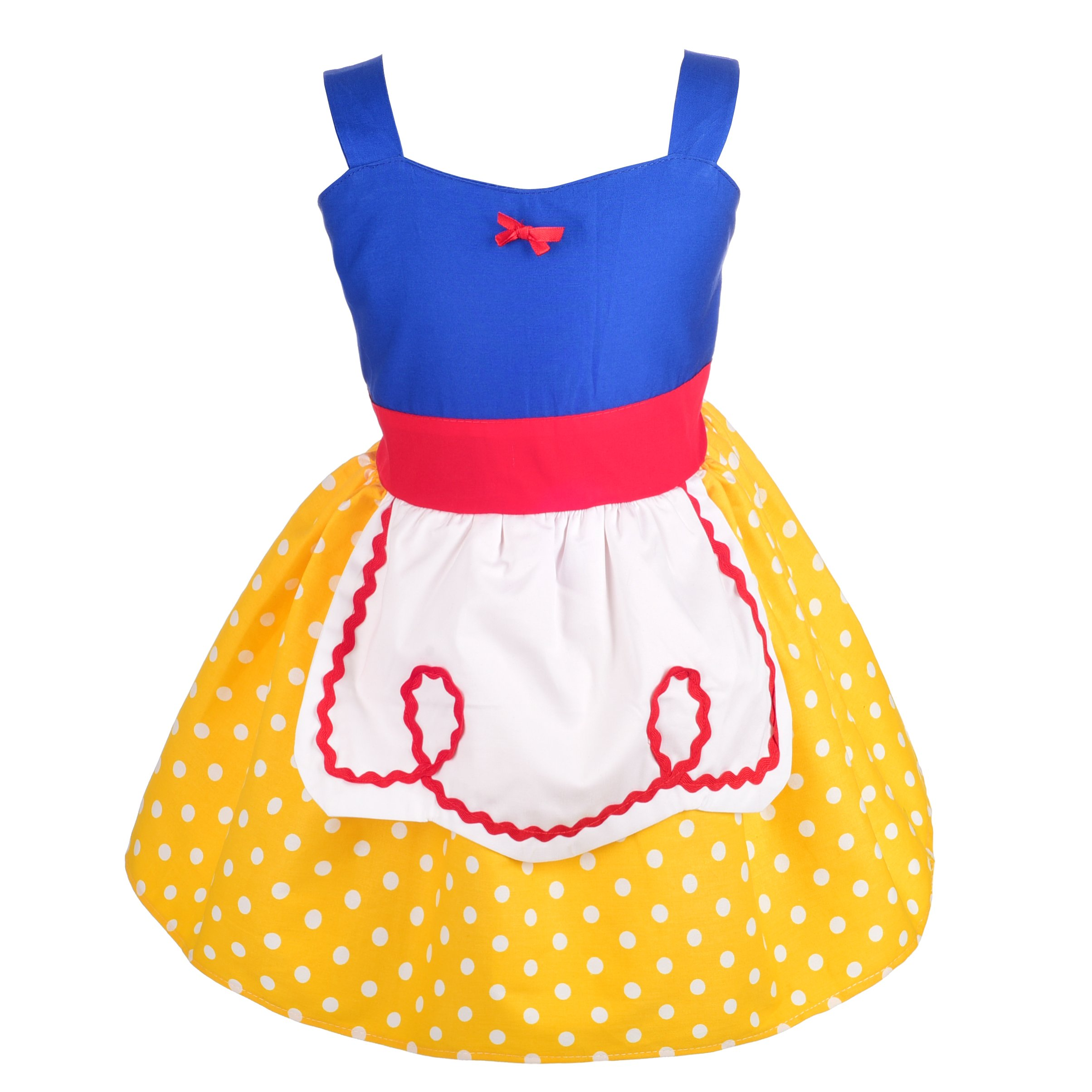 Dressy Daisy Princess Snow White Dress with Apron Summer Dresses for Girls Size 5