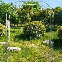 Garden Steel Garden Arch, Garden Arbor for Various Climbing Plant, Outdoor Garden Lawn Backyard, Wedding Arch Stand with…