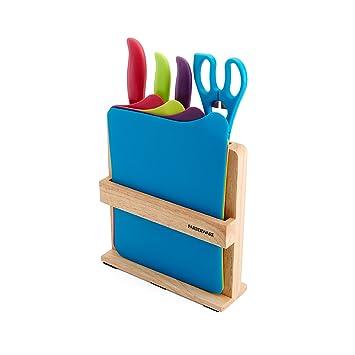 Elegant Farberware 9 Piece Knife And Cutting Board Set With Storage Block