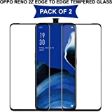 Hupshy Edge to Edge Curved Full Tempered Glass Screen Guard for Oppo Reno 2Z - Black (Pack of 1)