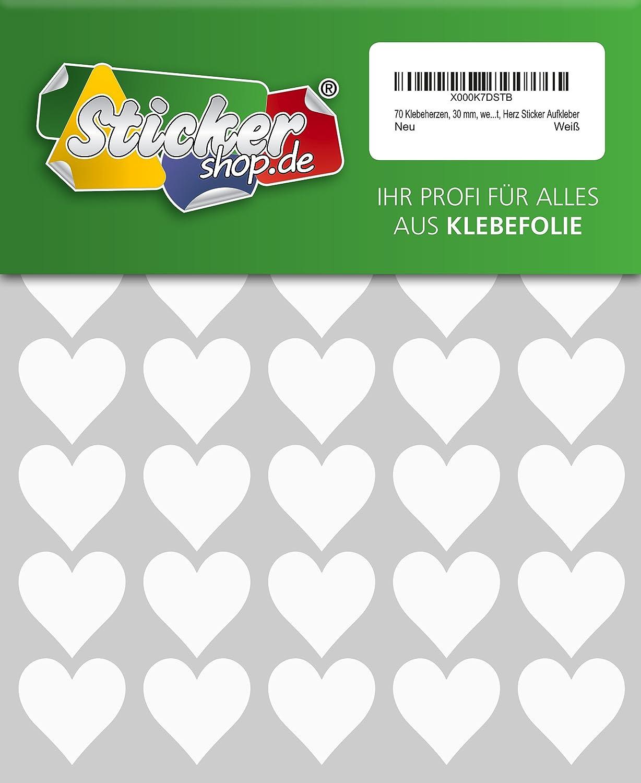 bianco resistente alle intemperie 30/mm cuore sticker 70/sticker cuori in PVC