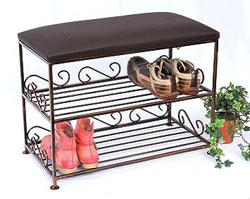 Schuhregal mit Sitzbank Art.165 Bank 60cm Schuhschrank aus Metall ...
