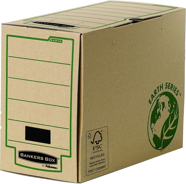 Bankers Box Lomo 100 - Caja de archivo definitivo montaje automático, marrón: Amazon.es: Oficina y papelería