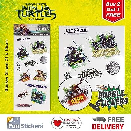 Teenage Mutant Ninja Turtles Stickers Bubble 3001: Amazon.es ...