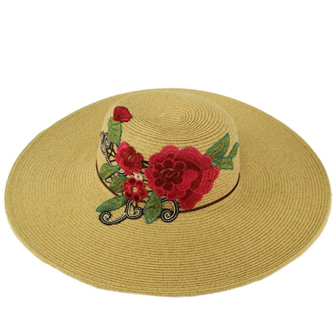 5c8c0556b593f C.C Floral Embroidery Floppy Wide Brim 5