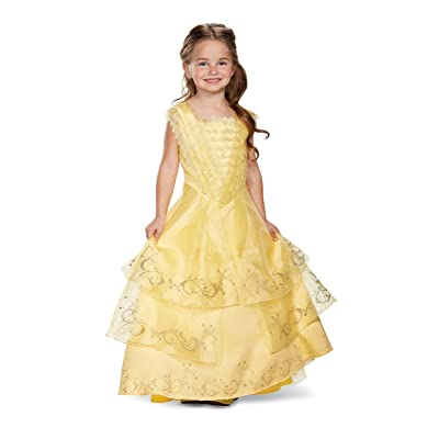 Disguise Belle Ball Gown Prestige Movie Costume, Yellow, Small (4-6X): Toys & Games