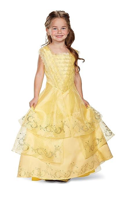 Amazoncom Disney Belle Ball Gown Prestige Movie Costume Yellow