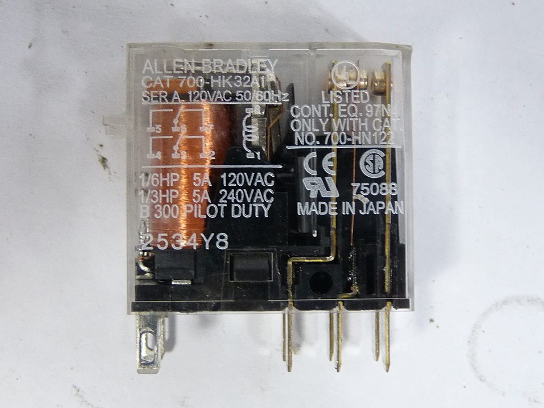 Allen Bradley 700 Hk32a1 120 Volt Ac Maximum Coil 10 Amp Solid State Relay Vs Dpdt Hk Mod N A Electronic Relays Industrial Scientific