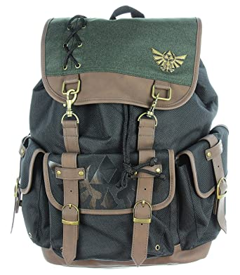 Amazon.com  Nintendo Zelda Link Ruck Sack W Metal Badge and PU Video ... 048a9d123a7a3