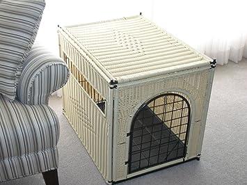 decorative dog crate large size natural color round door - Decorative Dog Crates