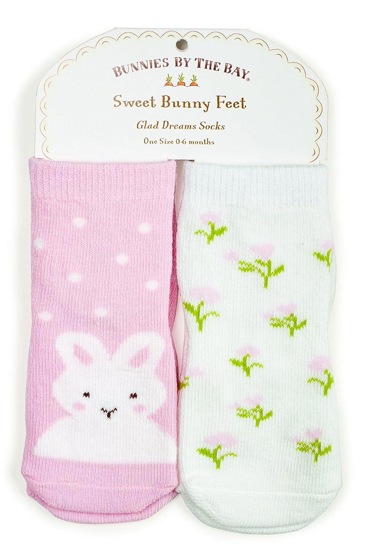 2 Pair Bunnies by the Bay Do Delight Socks 0-6 Mo