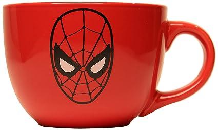Soup Mug24 Buffalo Mc6924 Marvel Spider Man Ounces Silver Mask SUzpLMVqGj