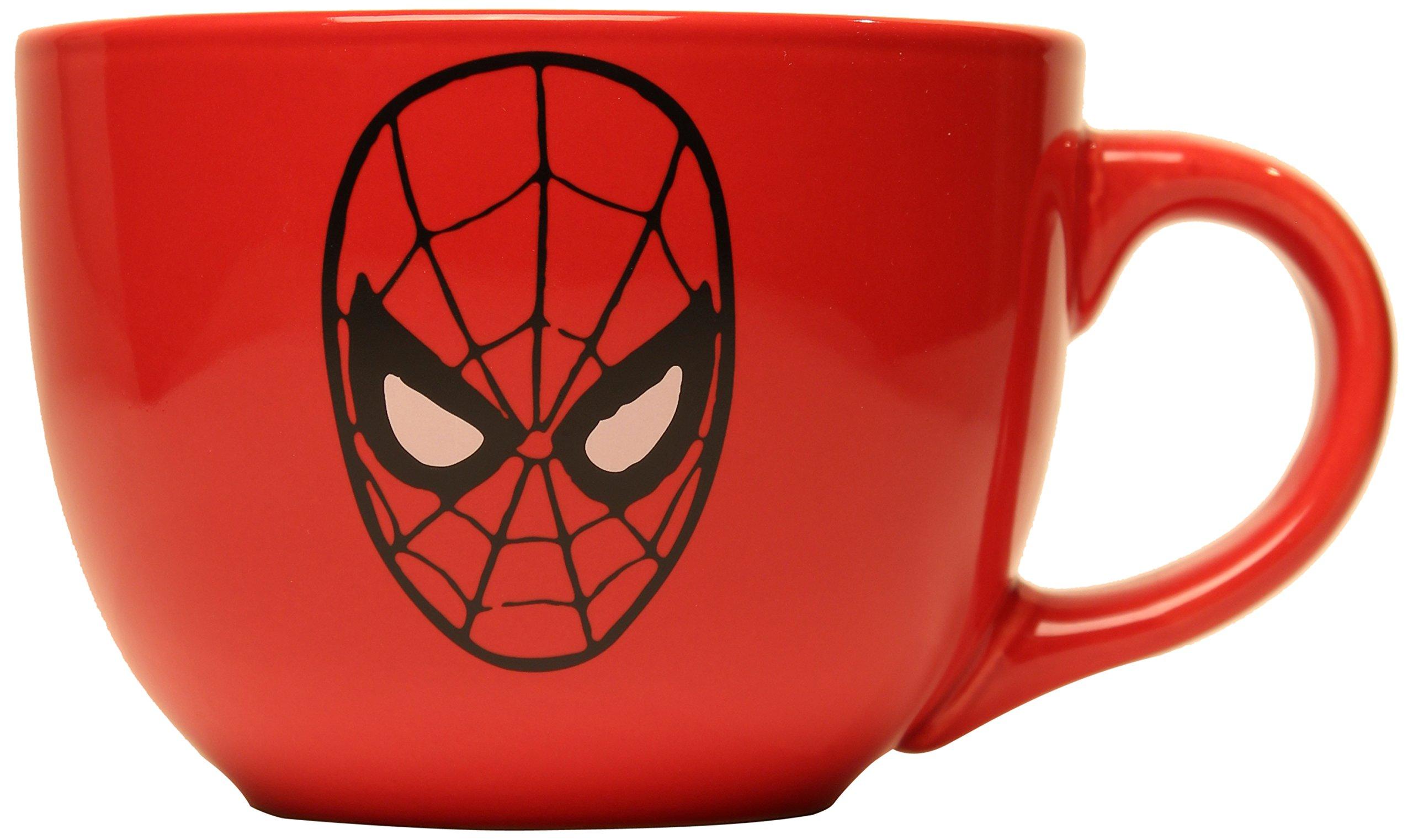 Silver Buffalo MC6924 Marvel Spider-Man Mask Soup Mug, 24-Ounces