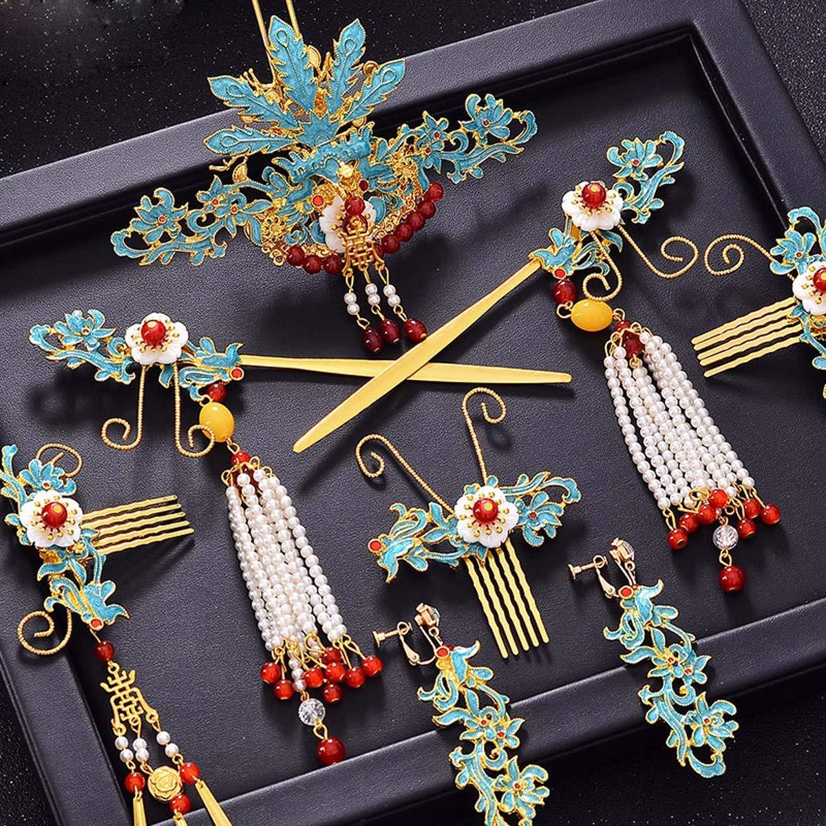 Girls Crown, Beautiful headdress/Wedding Dress Headgear Chinese Ancient Costume Wedding Accessories Wedding Toast Phoenix Crown Ornaments. by Zehaer (Image #3)