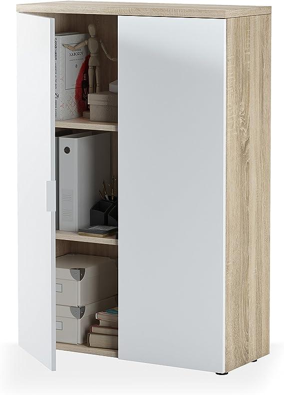 Habitdesign 0F5655A - Mueble Auxiliar despacho, Modelo Office ...