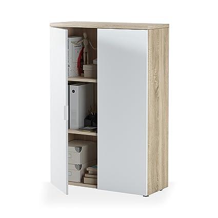 Habitdesign 0F5655A - Mueble Auxiliar despacho, Modelo ...