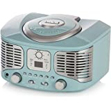 AKAI A60023BL Retro Bluetooth CD Boombox with FM Radio - Blue