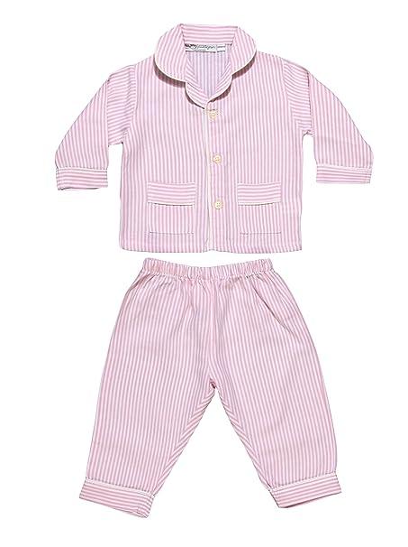 Allegrini Pijama de bebé franela 100% algodón Lucy Rosa 12 Meses (80)
