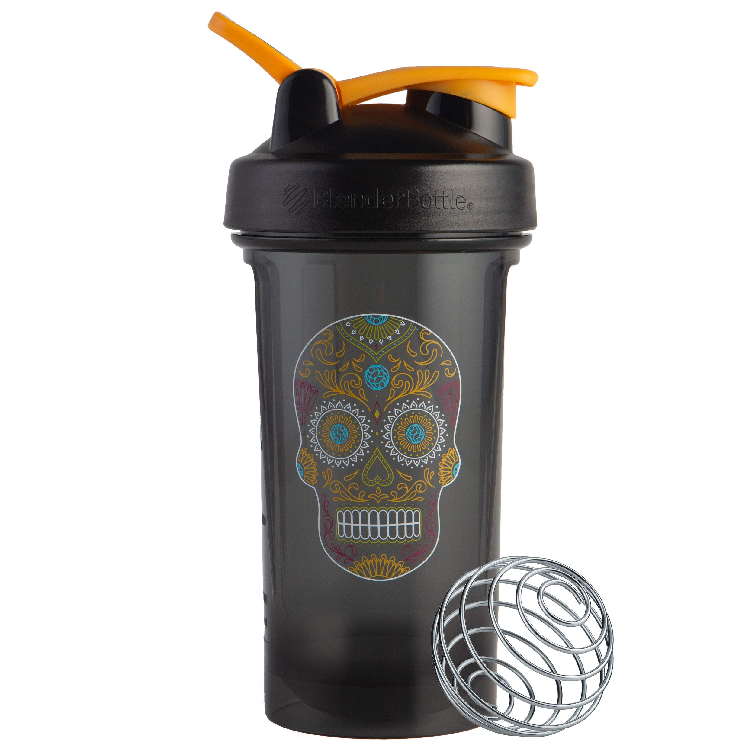 24-Ounce BlenderBottle Shaker Bottle Pro Series Perfect for Protein Shakes and Pre Workout Black//Clear