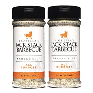 Jack Stack Barbecue All Purpose Dry Rub Seasoning - Kansas City Spice 2 Pack - for Chicken, Beef, Ribs, Vegetables, Seafood, and More (7oz Each)