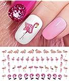 Flamingo Water Slide Nail Art Decals - Nail Salon Quality!