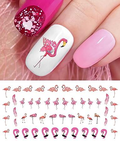 Flamingo Water Slide Nail Art Decals