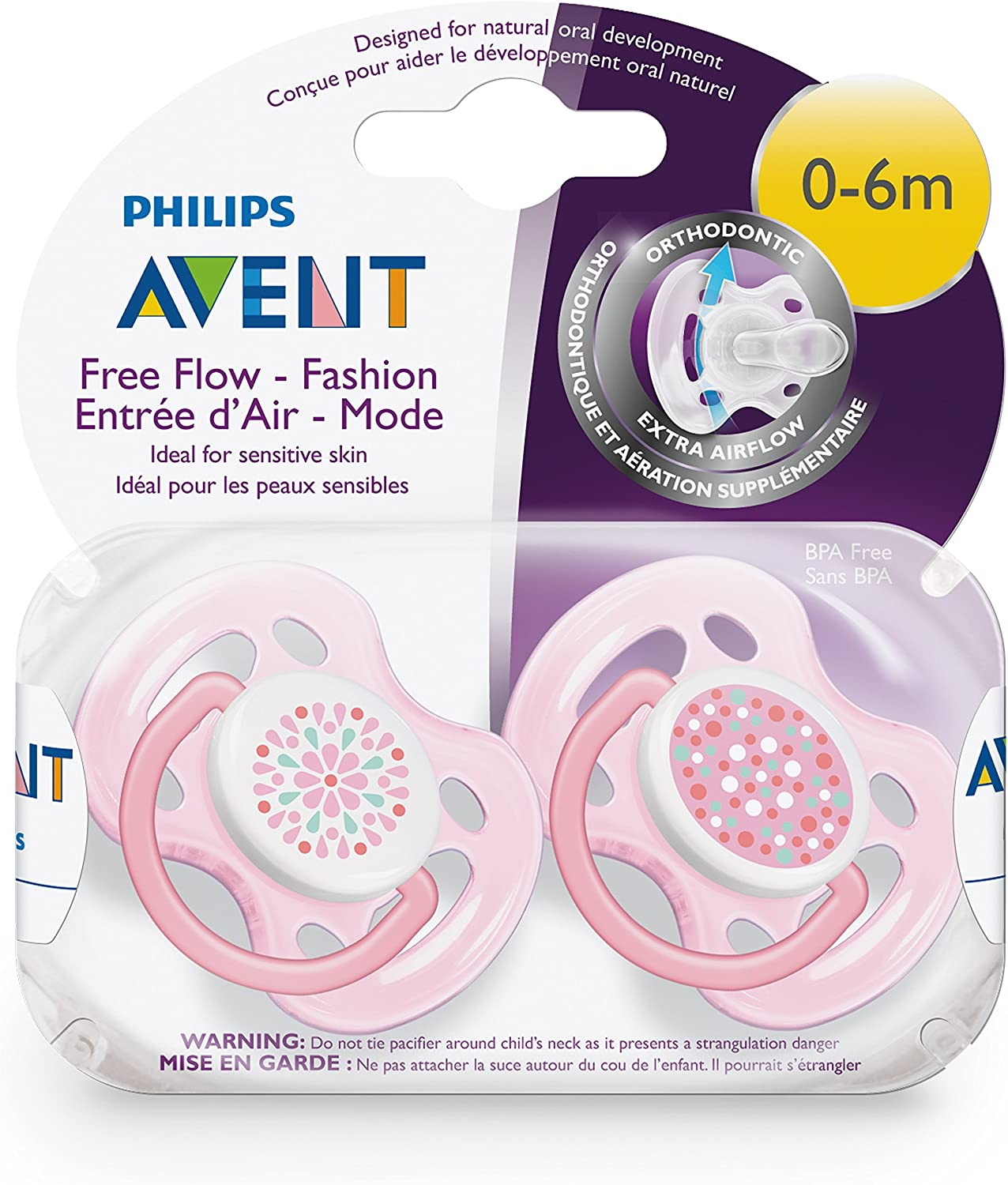 Pack of 2 Ventilated Decorated Dummies Decorated Philips Avent for ...