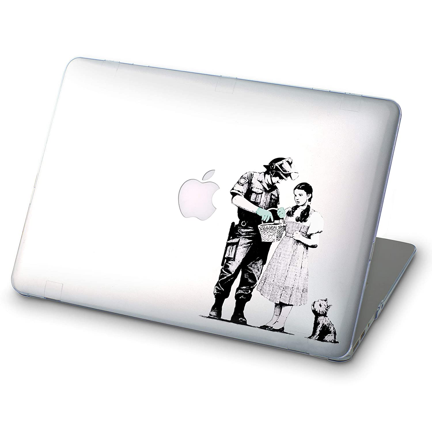 Banksy Soldier Searching Girl Macbook Air Case With Printed Bottom Hard Mac Pro Case for Mac Book Air 13 in Air 11 Pro 13 2016 Pro 15 inch 2017 Pro Retina 15 MacBook 12 Retina MA3004
