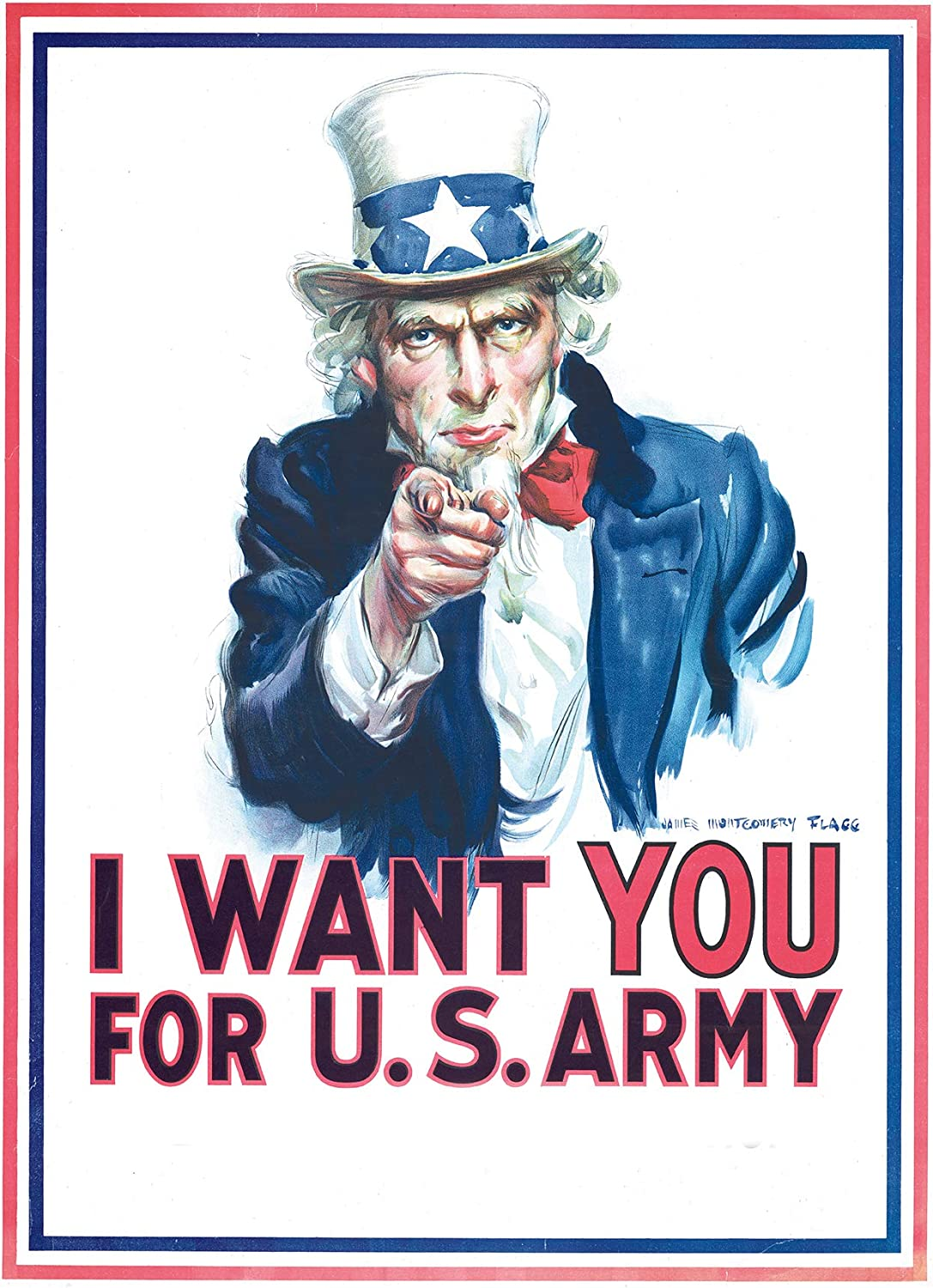 I Want You 36x24 Uncle Sam Poster Poster Print