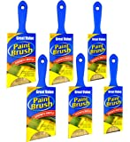 """6 Piece Professional Painters 2"""" 2.5''3''Cutting in Brush for Precise Cutting in All Types of Paint Brushes Set Paint Brush Angle sash Short Cutting Paint Brush Chalk Paint Brush"""