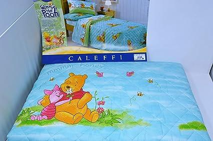Trapunta Winnie The Pooh.Caleffi Trapunta Primaverile Singolo Cotone Winnie The Pooh Pooh