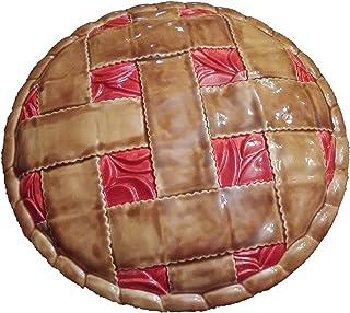 Deep Dish Ceramic Covered Apple Pie Plate