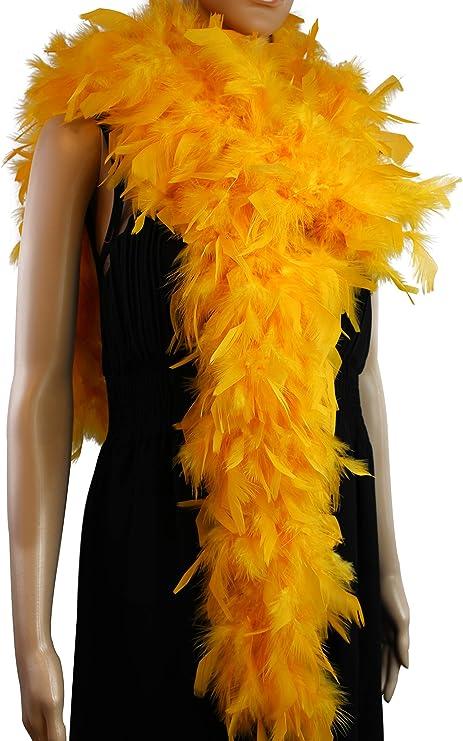 80 Gram CHANDELLE FEATHER BOA ORANGE 2 Yards Costumes