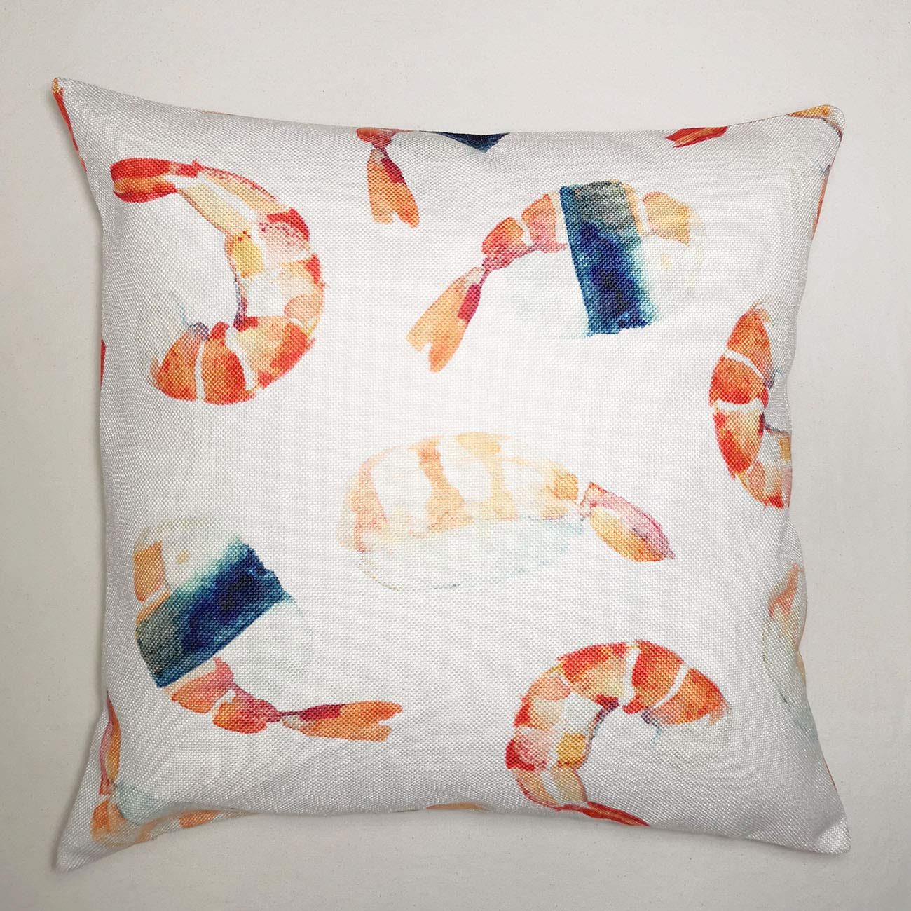 Turnip Design Watercolor Shrimp Sushi Home Decor Wedding Housewarming Gift Cotton Cushion Cover Throw Pillow Case TDPN26
