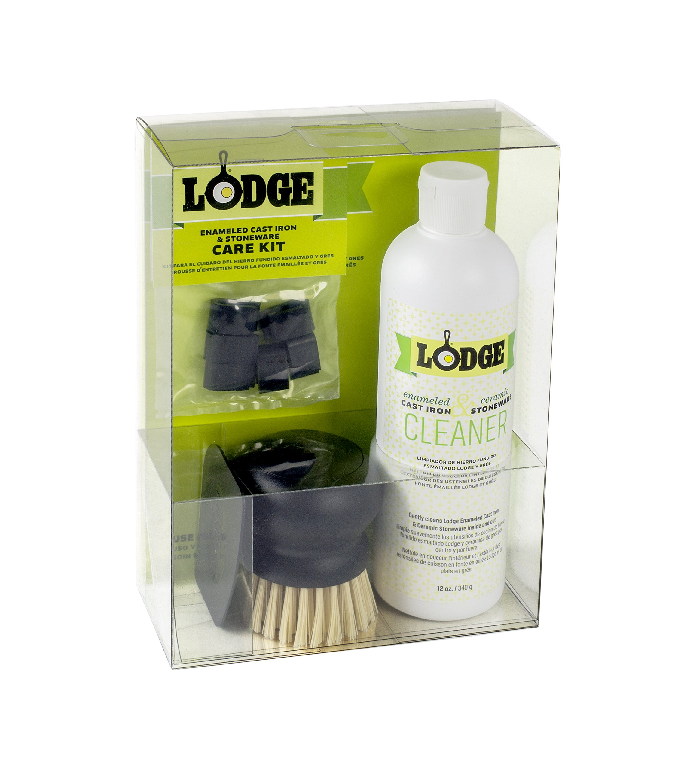 Lodge A-CAREE1 Enameled Cast Iron and Stoneware Care Kit, One Size, Assorted