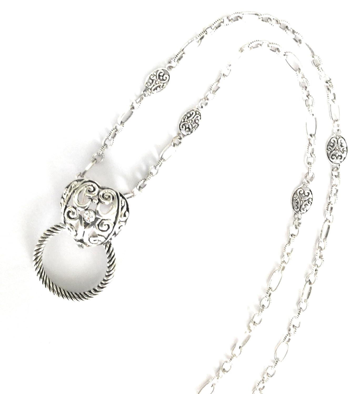 7e2b9dd0612 Amazon.com  Itsalotalike Lanyard Heart Badge Glasses ID Holder Eyeglass  Holder  Jewelry