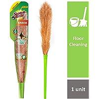 Scotch-Brite No-Dust Fiber Broom (Multi-Purpose, Green)