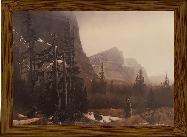 母のPride by Kevin Daniel。印刷Aloneまたはのフレーム付きソリッドOakブラウン木製フレーム Framed in Solid Oak Brown Wood