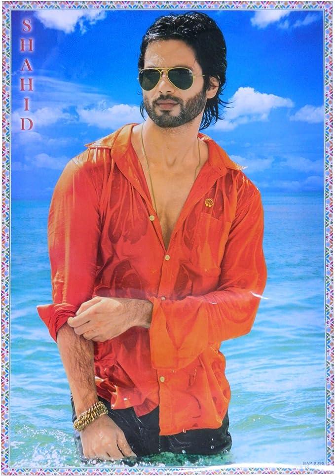 Póster Shahid Kapoor camisa mojada 75 x 50 cm estrella de ...