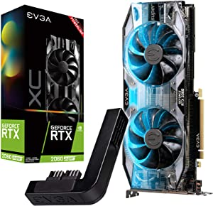 EVGA GeForce RTX 2060 Super XC Gaming, 08G-P4-3162-KP, 8GB GDDR6, Dual HDB Fans, RGB LED, Metal Backplate + PowerLink